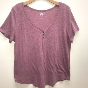 SO V-neck Short Sleeve Tee